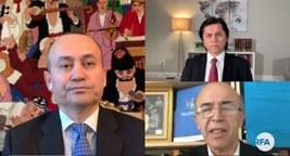 """""""Nezer"""" programmisining bu sanida Uyghur kishilik hoquq siyasiti qanunining maqullinishining ehmiyiti, uning amérika-xitay munasiwitige, Uyghurlarning nöwettiki ehwaligha we Uyghur dewasigha körsitidighan tesiri muhakime qilin'ghan."""
