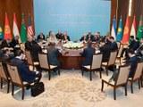 Америка ташқи ишлар министири майк помпейо әпәнди C5+1 министирлар йиғинида. 2020-Йили 3-феврал, ташкәнт, өзбекистан.