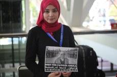 «ئىلاھى دەستۇر قۇرئانى كېرەم» شەرىپىگە بېغىشلانغان شىمالىي ئامېرىكا ئىسلام چەمبىرىكىنىڭ 41-نۆۋەتلىك يىللىق يىغىلىشىدا ئۇيغۇرلارغا مەدەت تىلىدى. 2016-يىلى 28-ماي، ئامېرىكا.