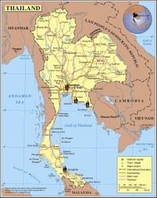 خەرىتىدە تايلاندتىكى ئۆزلىرىنى «تۈرۈك پۇقراسى» دەپ ئاتىغان، 367 نەپەر كىشى تۇتۇپ تۇرۇلۇۋاتقان باڭكوك، رايوڭ، ترات، ھات ياي قاتارلىق شەھەر-رايونلار كۆرسىتىلگەن.