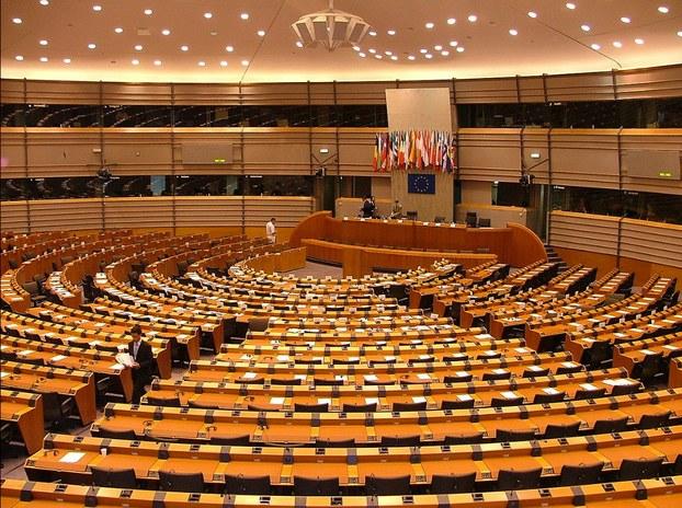 явропа парламенти йиғин залидин көрүнүш.