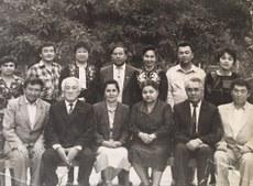 Özbékistan Uyghurche radiyo anglitish bölümining xadimliri. 1988-Yili, tashkent.