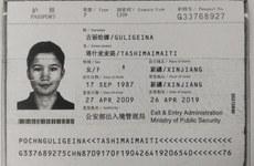 ئاتا-ئانىسىنى كۆرۈش ئۈچۈن يۇرتىغا قايتىپ، «يىغىۋېلىش لاگېرىغا» قامالغان مالايشىيا تېخنولوگىيە ئۇنىۋېرسىتېتىنىڭ دوكتور ئاسپىرانتى گۈلگىنە تاشمەمەتنىڭ پاسپورتى.