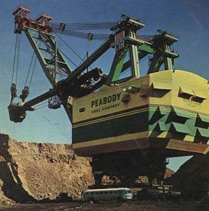 1960-1980-يىللىرى، Peabody شىركىتىنىڭ كۆمۈر قېزىشتا ئىشلەتكەن ئەڭ چوڭ كىرانى.