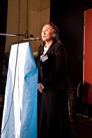 رابىيە قادىر خانىم نورۋىگىيىنىڭ پايتەختى ئوسلودا ئۇيغۇرلارغا سوز قىلدى. 2011-يىلى 29-يانۋار