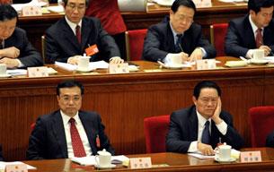 Xitay siyasiy qanun komitéti mu'awin sékrétari ju yungkang béyjingdiki xelq qurultiyida. 2008-Yili 8-mart.