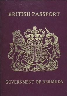 بېرمۇدادىكى ئۇيغۇرلارغا بېرىلىدىغان بېرمۇدا پاسپورتىنىڭ مۇقاۋىسى