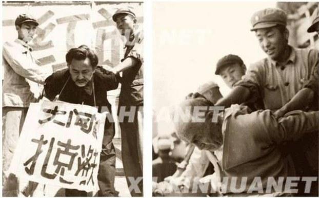 1958-يىلى خىتاي ھۆكۈمىتى قوزغىغان «يەرلىك مىللەتچىلىككە قارشى ھەرىكەت» تە ئاكتىپلىق بىلەن ئوتتۇرىغا چىققان، ئەمما «مەدەنىيەت ئىنقىلابى» دا بوينىغا «جاسۇس» دېگەن تاختاي ئېسىلىپ، كۈرەشكە تارتىلغان بۇرھان شەھىدى (ئوڭدا) بىلەن ئابدۇللا زاكىروف (سولدا).